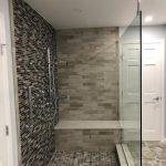 completed bathroom shower