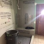 bathroom remodel work